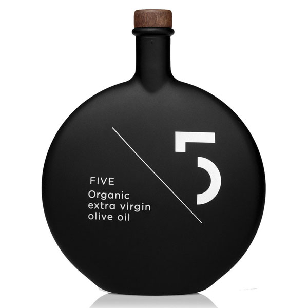 Five 5 Organic Extra Virgin Olive Oil from Greece